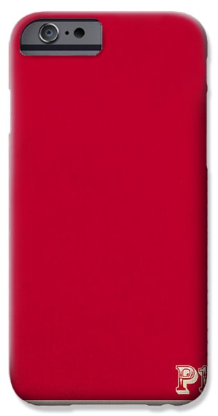Pantone iPhone Cases - Pantone 186 Fire Engine Red Color on Worn Canvas iPhone Case by Design Turnpike
