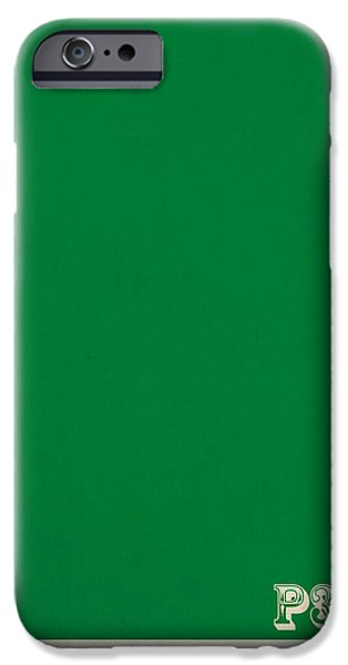 Pantone iPhone Cases - Pantone 348 Forest Green Color on Worn Canvas iPhone Case by Design Turnpike