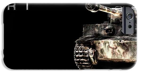 Fury iPhone Cases - Panzer Tiger I Front BK BG 2 iPhone Case by Weston Westmoreland