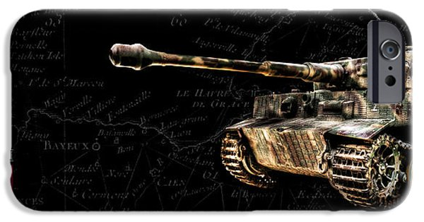 Fury iPhone Cases - Panzer Tiger I Side BK BG iPhone Case by Weston Westmoreland
