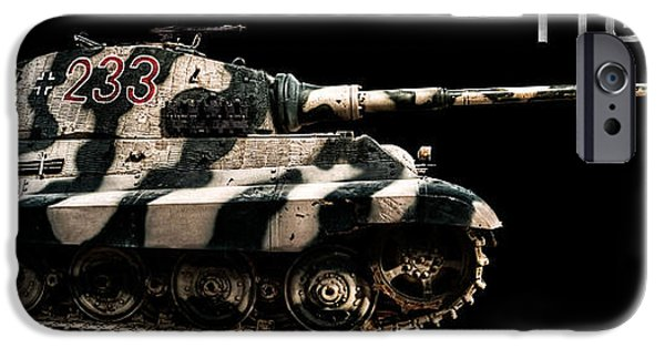 Fury iPhone Cases - Panzer Tiger II Side BK BG 2 iPhone Case by Weston Westmoreland