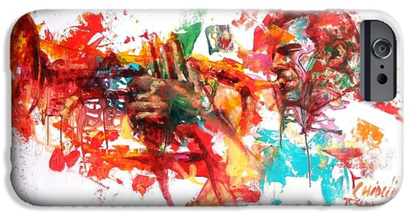 Paintings iPhone Cases - Paolo Fresu iPhone Case by Massimo Chioccia and Olga Tsarkova