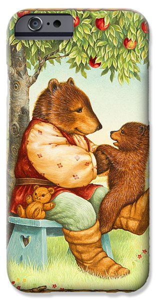 Papa iPhone Cases - Papa Bear iPhone Case by Lynn Bywaters
