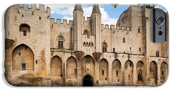 Pope iPhone Cases - Papal Castle in Avignon iPhone Case by Inge Johnsson