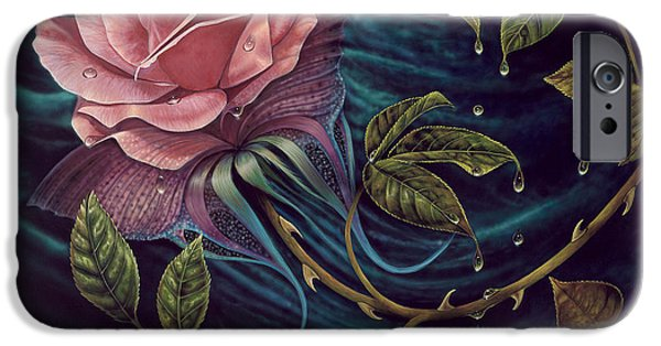 Gold Roses iPhone Cases - Papalotl Rosalis iPhone Case by Ricardo Chavez-Mendez