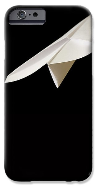 Flight iPhone Cases - Paper Airplane iPhone Case by Edward Fielding