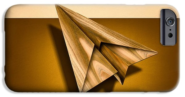Metaphor iPhone Cases - Paper Airplanes of Wood 1 iPhone Case by Yo Pedro