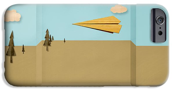 Metaphor iPhone Cases - Paper Airplanes of Wood 12 iPhone Case by Yo Pedro