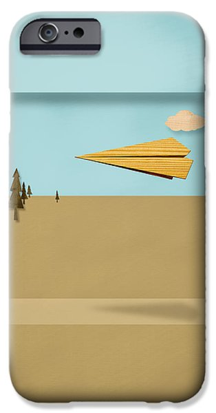 Paper Airplanes of Wood 12 iPhone Case by Yo Pedro