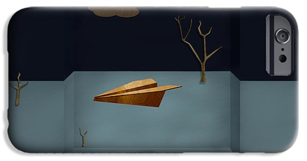 Glider iPhone Cases - Paper Airplanes of Wood 13 iPhone Case by Yo Pedro