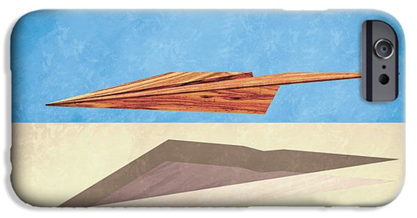 Glider iPhone Cases - Paper Airplanes of Wood 14 iPhone Case by Yo Pedro