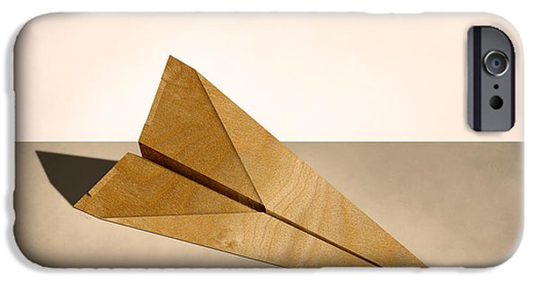 Glider iPhone Cases - Paper Airplanes of Wood 15 iPhone Case by YoPedro
