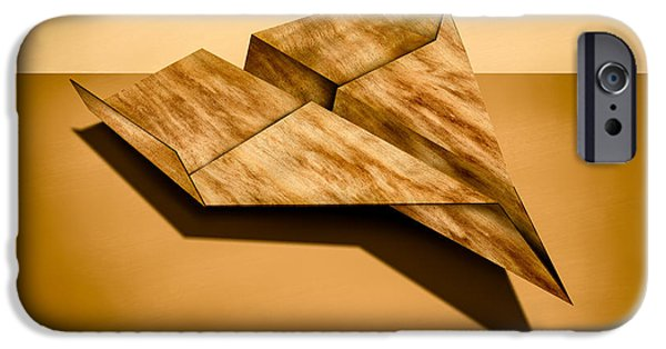 Aeronautics iPhone Cases - Paper Airplanes of Wood 5 iPhone Case by Yo Pedro