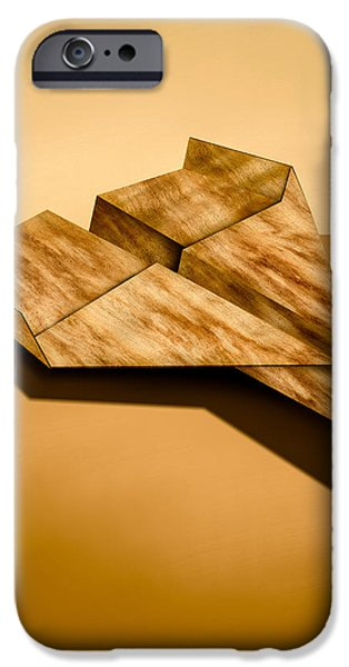Paper Airplanes of Wood 5 iPhone Case by Yo Pedro