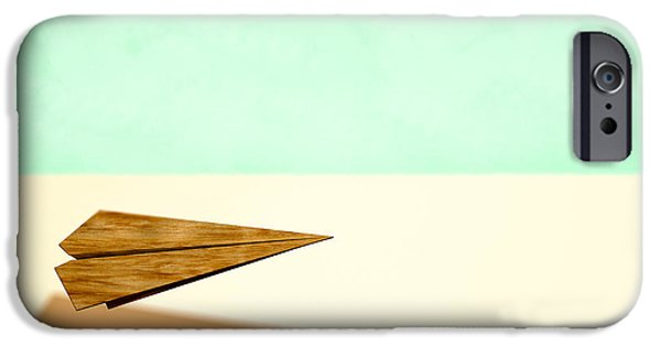 Aeronautics iPhone Cases - Paper Airplanes of Wood 9 iPhone Case by Yo Pedro