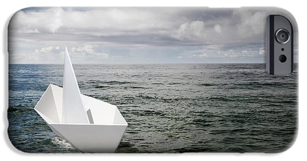 Toy Boat iPhone Cases - Paper Boat iPhone Case by Carlos Caetano