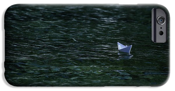 Toy Boat iPhone Cases - Paper Boat iPhone Case by Joana Kruse
