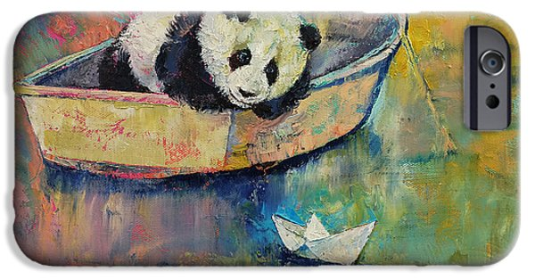 Michael Paintings iPhone Cases - Paper Boat iPhone Case by Michael Creese