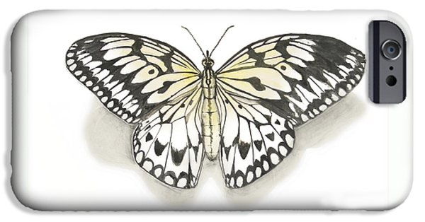 Insects Ceramics iPhone Cases - Paper Kite Butterfly iPhone Case by Nathan Ryan