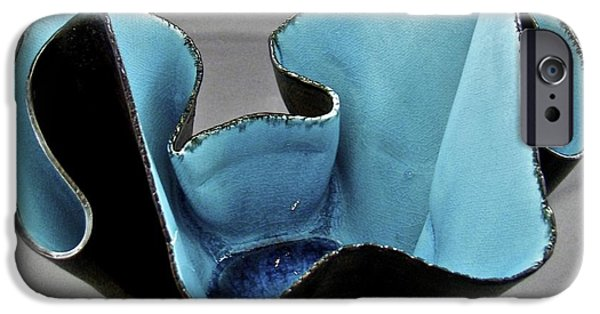 Firing Ceramics iPhone Cases - Paper-thin Bowl  09-003 iPhone Case by Mario Perron