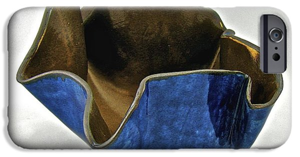 Firing Ceramics iPhone Cases - Paper-thin Bowl  09-005 iPhone Case by Mario Perron