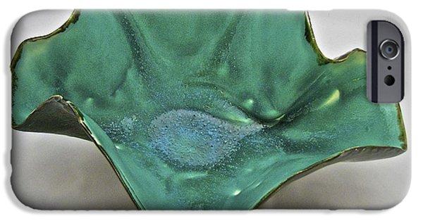 Firing Ceramics iPhone Cases - Paper-thin Bowl  09-009 iPhone Case by Mario Perron