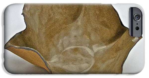 Firing Ceramics iPhone Cases - Paper-thin Bowl  09-010 iPhone Case by Mario Perron