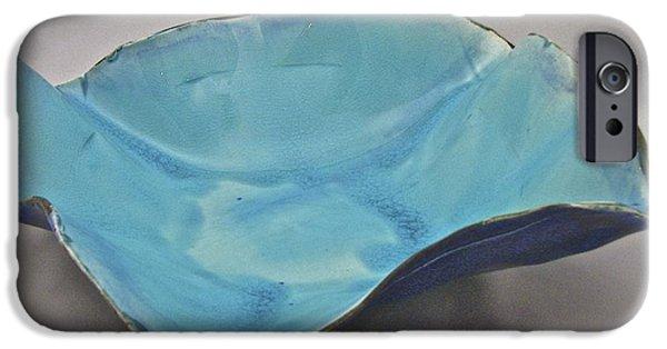 Crackle Ceramics iPhone Cases - Paper-thin Bowl  09-012 iPhone Case by Mario Perron