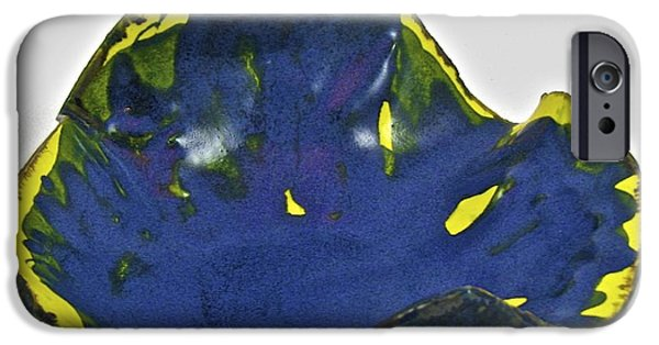 Firing Ceramics iPhone Cases - Paper-thin Bowl  09-014 iPhone Case by Mario Perron