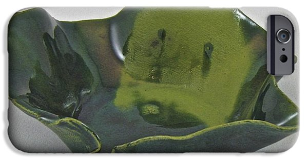 Firing Ceramics iPhone Cases - Paper-thin bowl 09-016 iPhone Case by Mario Perron
