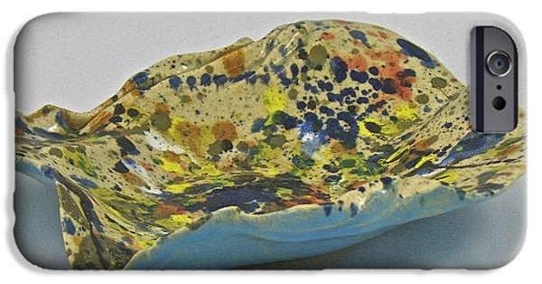 Firing Ceramics iPhone Cases - Paper-thin bowl 09-017 iPhone Case by Mario Perron