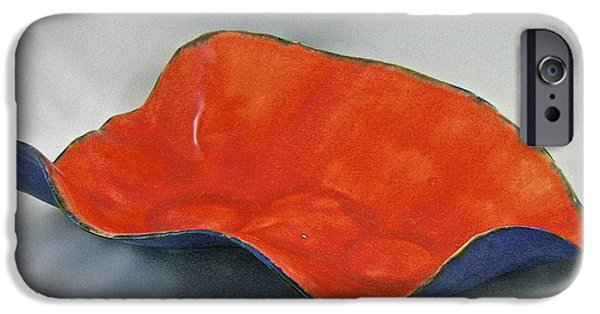 Firing Ceramics iPhone Cases - Paper-thin bowl 09-018 iPhone Case by Mario Perron