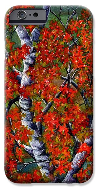 Paper White Birch reflections iPhone Case by Janine Riley