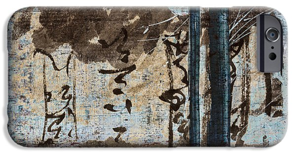 Photomontage iPhone Cases - Papers and Inks iPhone Case by Carol Leigh