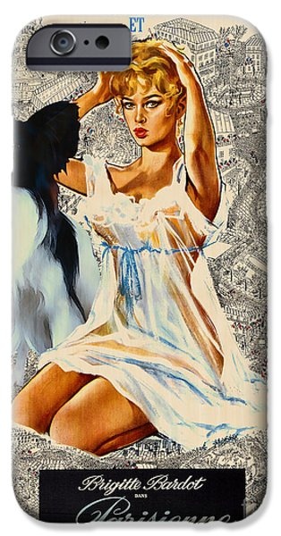 Papillon Art - Una Parisienne Movie Poster iPhone Case by Sandra Sij