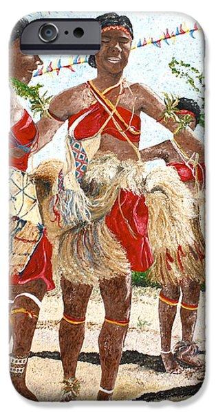 Papua New Guinea Cultural Show iPhone Case by Carol Mallillin-Tsiatsios