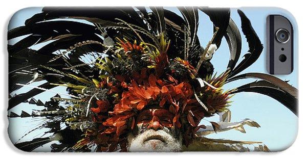 Jeremy iPhone Cases - Papua New Guinea, Portrait iPhone Case by Jeremy Hunter