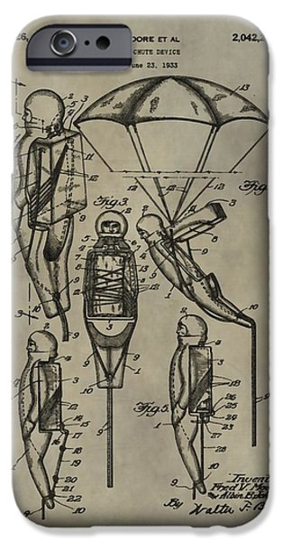 Toy Store iPhone Cases - Parachute Toy Patent iPhone Case by Dan Sproul