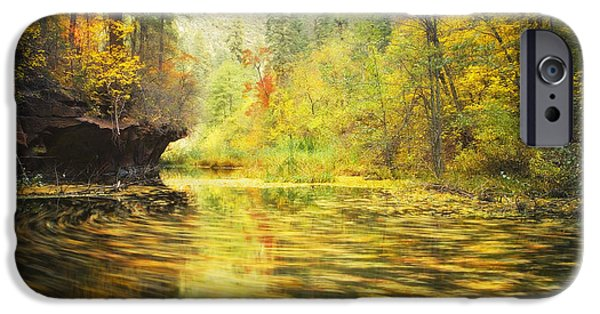 Oak Creek Canyon iPhone Cases - Parade of Autumn iPhone Case by Peter Coskun