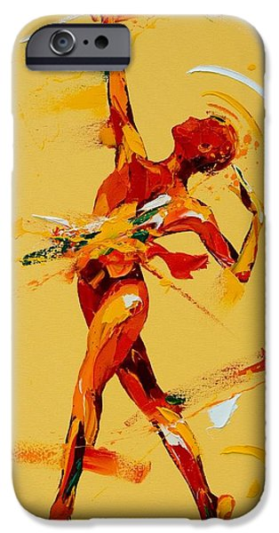 Ballet Dancers Paintings iPhone Cases - Paradis iPhone Case by Penny Warden
