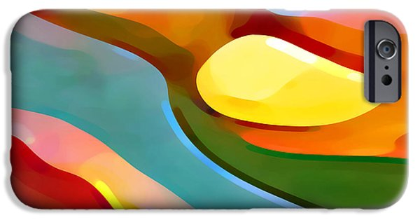 Abstract Movement iPhone Cases - Paradise 5 iPhone Case by Amy Vangsgard