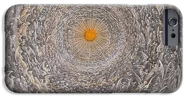 The Sun God iPhone Cases - Paradise Canto Thrity One iPhone Case by Gustave Dore