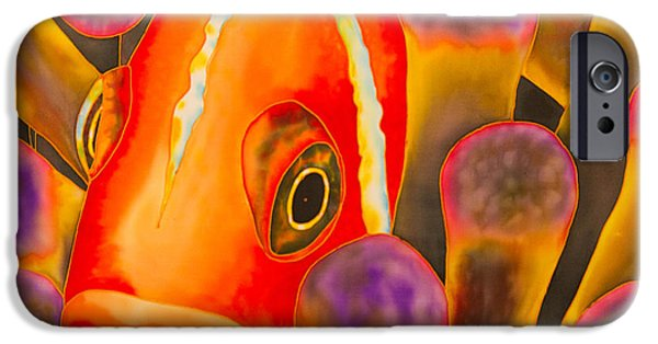 Great Tapestries - Textiles iPhone Cases - Paradise Clownfish iPhone Case by Daniel Jean-Baptiste