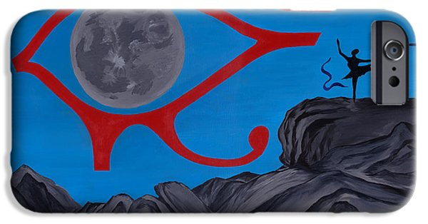 Horus Paintings iPhone Cases - Paradise Dance iPhone Case by Salvadore Delvisco