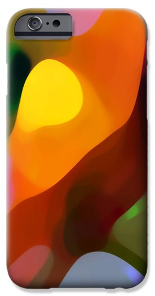 Abstract Landscape Digital Art iPhone Cases - Paradise Found 2 Tall iPhone Case by Amy Vangsgard