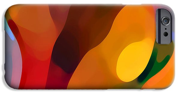 Abstract Movement iPhone Cases - Paradise Found 3 iPhone Case by Amy Vangsgard