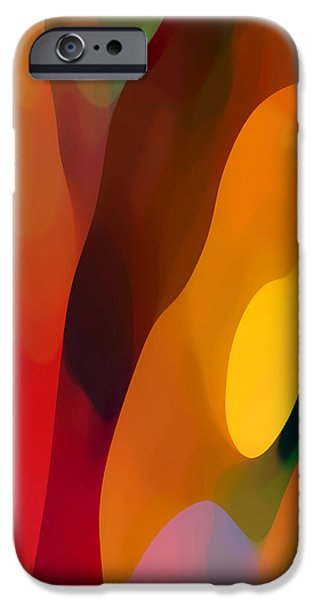 Abstract Movement iPhone Cases - Paradise Found 3 Tall iPhone Case by Amy Vangsgard