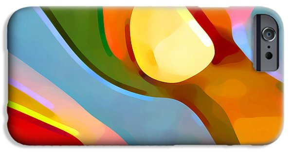 Abstract Movement iPhone Cases - Paradise Found 4 iPhone Case by Amy Vangsgard