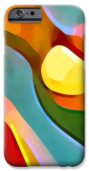Abstract Movement iPhone Cases - Paradise Found 7 iPhone Case by Amy Vangsgard