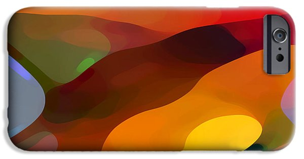 Abstract Landscape Digital Art iPhone Cases - Paradise Found iPhone Case by Amy Vangsgard